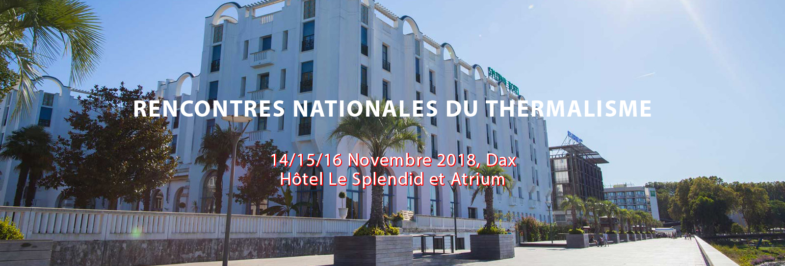 RENCONTRES NATIONALES DU THERMALISME